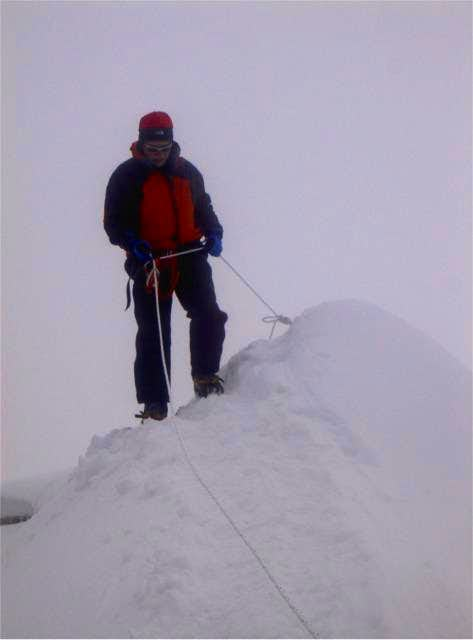 Lobuche East summit, can't...