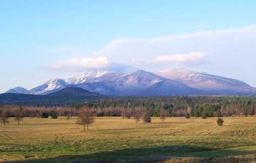 Whiteface Mountain (left) and...