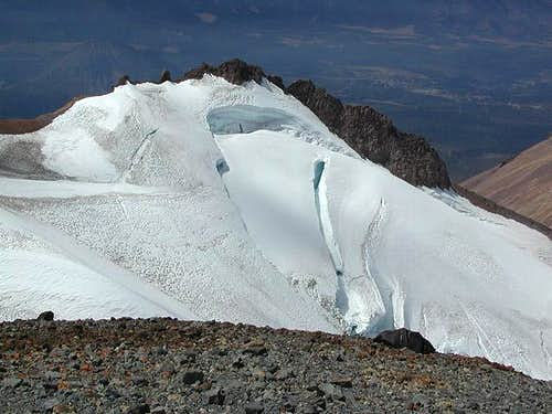 The upper Whitney Glacier and...