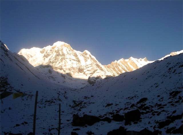The trail to Annapurna Base...