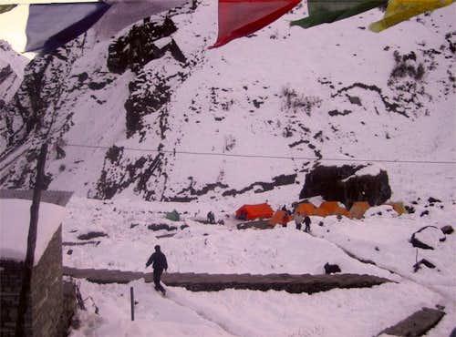 Tents at Machapuchare Base...