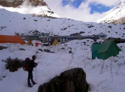 Tents at Machapuchare Base Camp