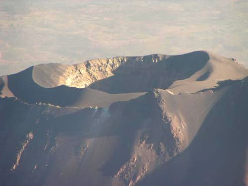 El Misti's summit crater....