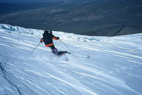 First ski descent from...