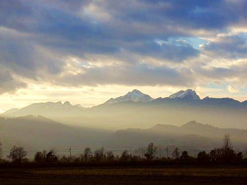 Triglav massif from east....