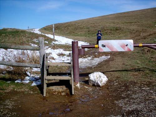 Fence ladder at beginning of...
