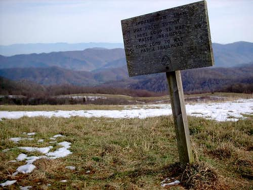 Appalachian Trail sign on the...