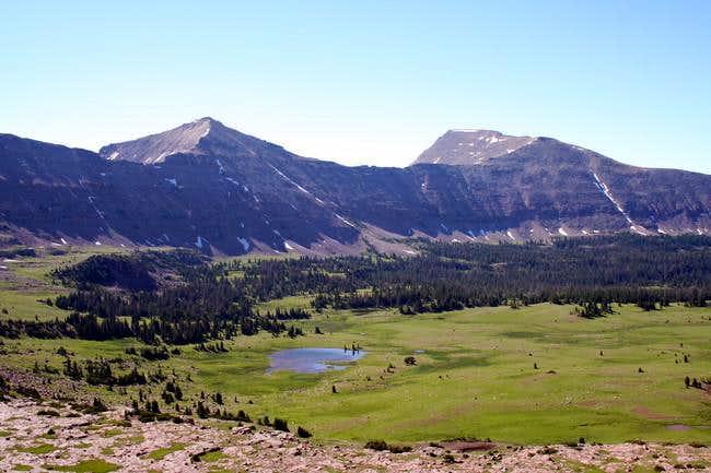 Explorer Peak (left) and...