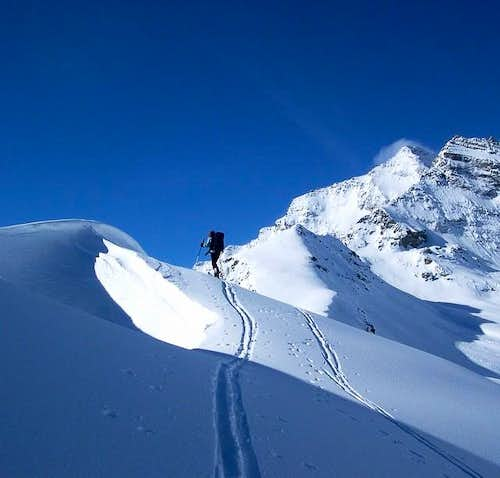 Ski touring in the Orco...