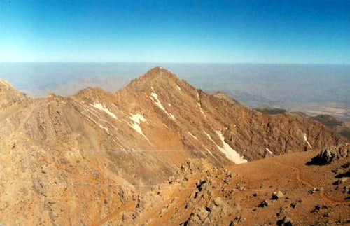Golgol peak is located on...