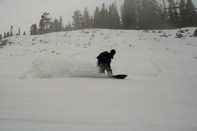 Snowboarding Baker Mountain's...