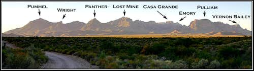 A panoramic of the Chisos...