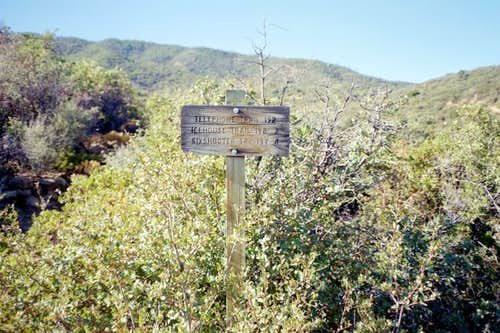 A trail sign along the...