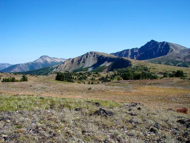 Ptarmigan Peak on the right,...