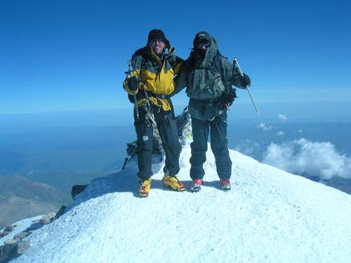 On the summit of Mt. Elbrus -...