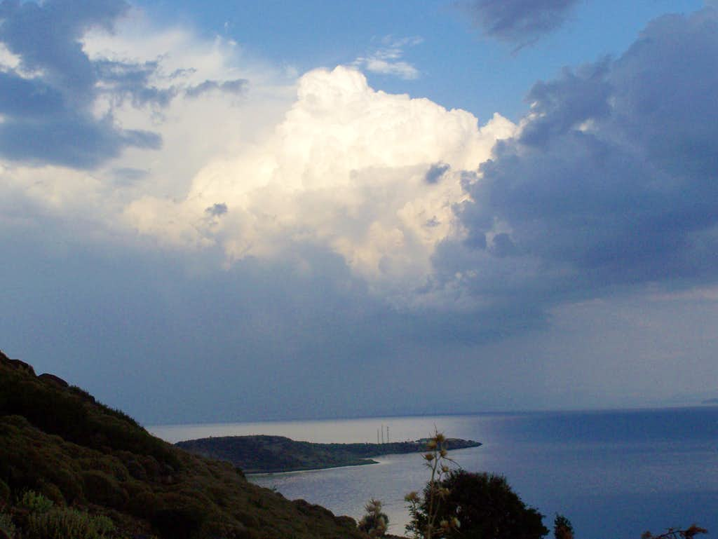 Assos Bay and Clouds