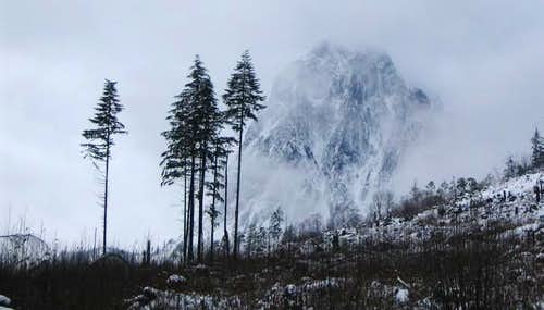 The NW wall of Mount Index on...