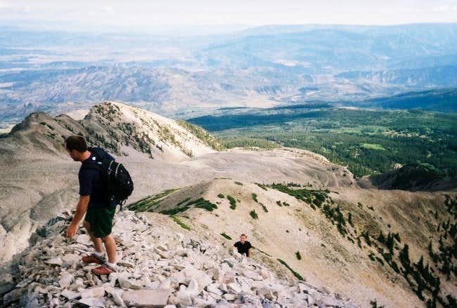 Scrambling the Northeast Ridge