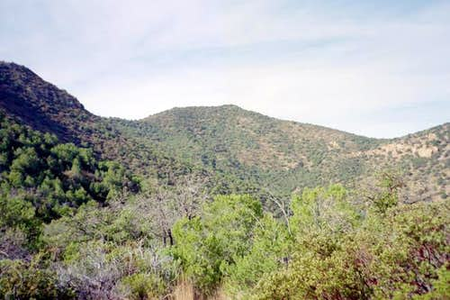 A view of Fissure Peak.