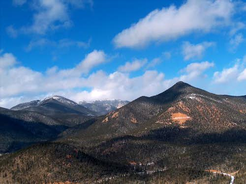 Left to right, Mt. Baldy, Mt....