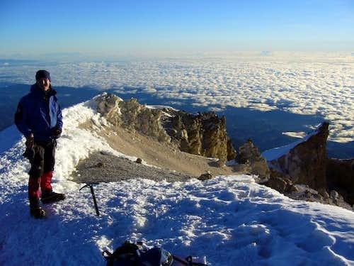 Dan Bailey on the summit of...