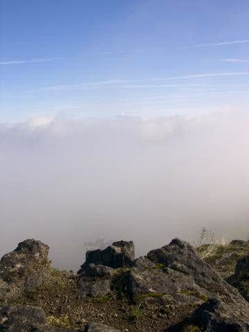Fog from Lower Table Rock .