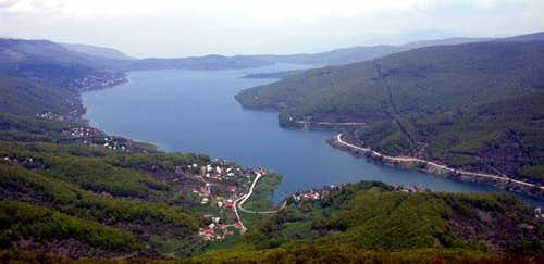 The Mavrovo lake on Bistra...