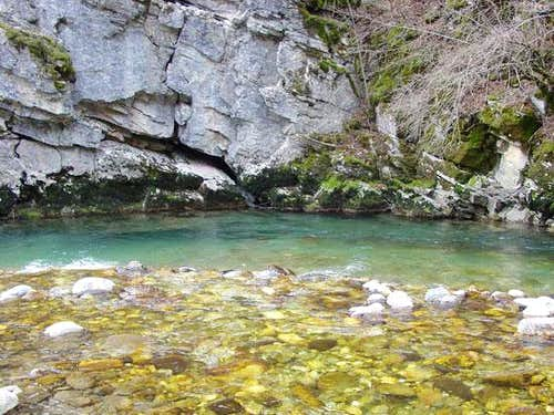 Radika river that forms the...