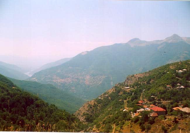 The village of Galichnik on...