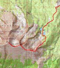 Thomas Lakes standard route