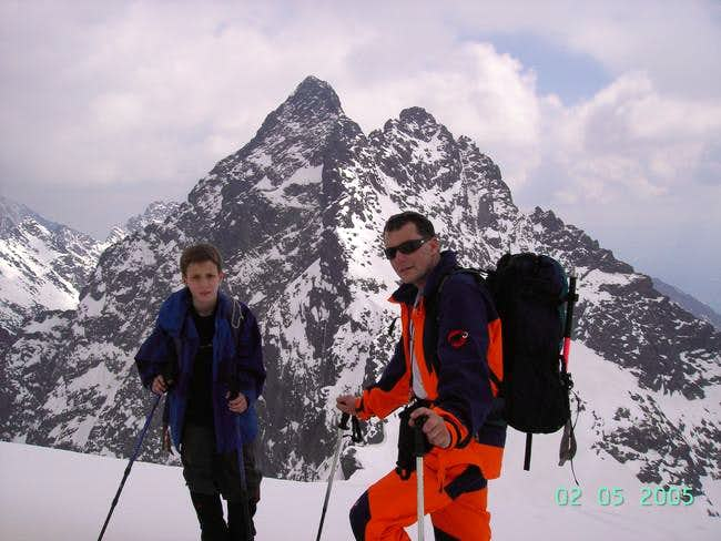 Two men over Waga Pass with...