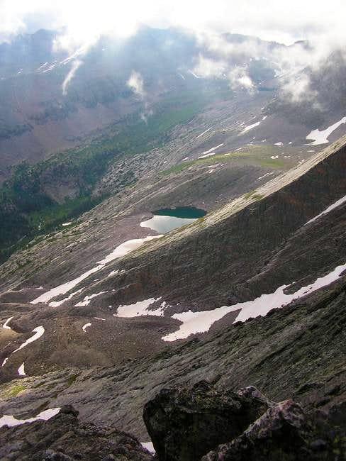 vestal lake from the ramp