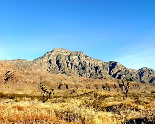 The south face of Moapa Peak,...