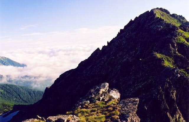 Mlynar summit from the ridge...