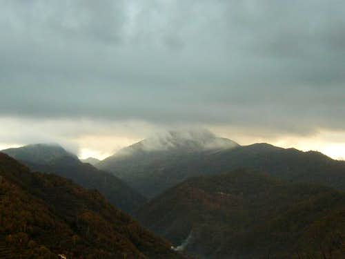 Alpesisa under clouds in a...