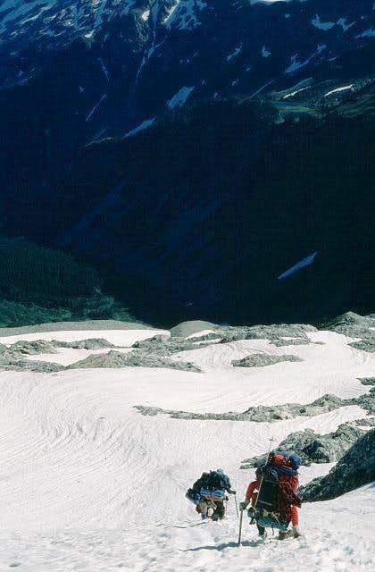 The steep snow thumb...