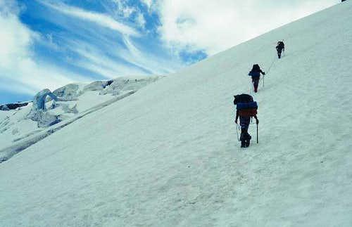 Upon reaching the ridge we...