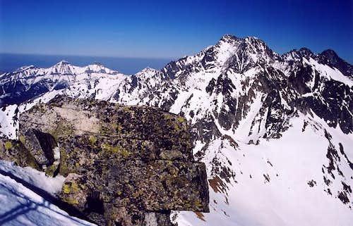 Svistovy summit view towards...