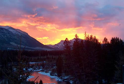 Sunrise over the Bow Valley,...