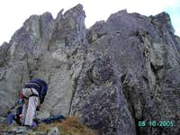preparing for climbing Igla