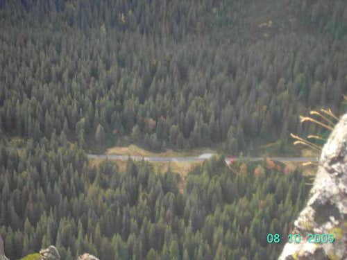 Asphalt road to Popradske...
