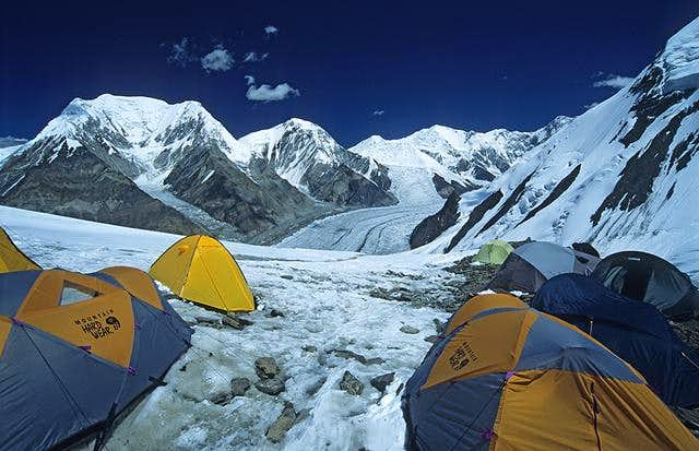 Camp One (~4800m alt) on Khan...