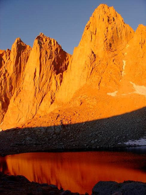 Sunrise at Iceberg Lake...