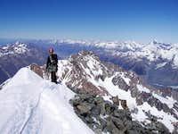 On the summit of Malte Brun....