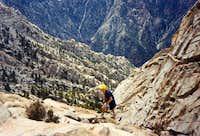 Climbing up Picacho Del...