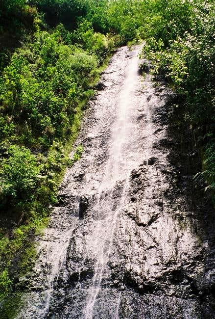 The Afareaitu Waterfall that...