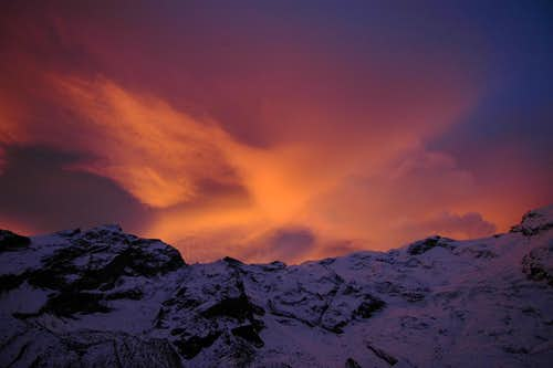 Monte Rosa dawn light