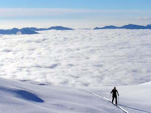 Sea of clouds - Above the clouds