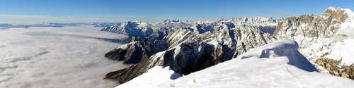 View from Monte Serva towards...