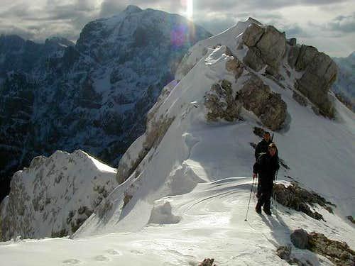Ascending the south ridge of...
